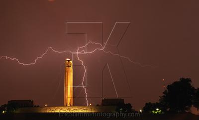 Lightning at Liberty Memorial